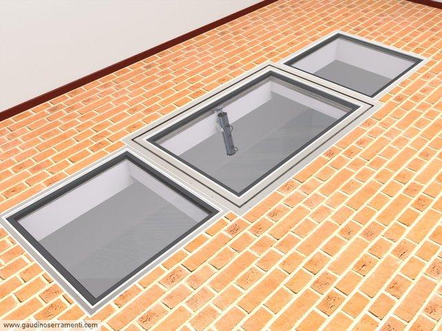 Floor window lucernari calpestabili gaudino for Finestre per mansarde e lucernari