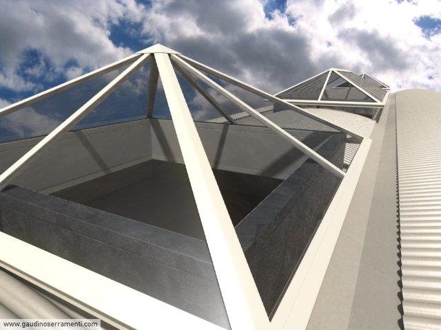 Coperture in vetro coperture speciali gaudino for Lucernari fissi per tetti prezzi